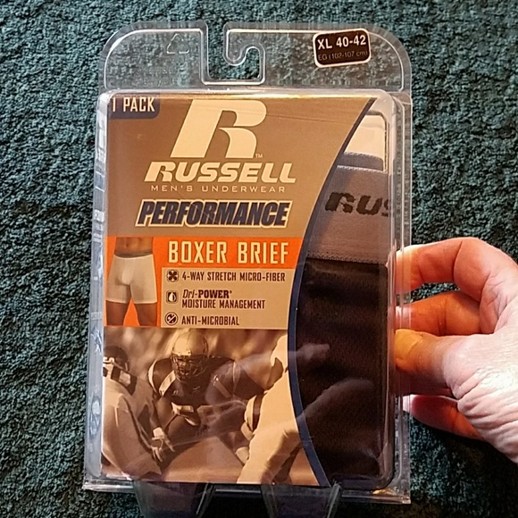 Performance Russell men's boxer brief size XL NWT